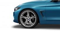 """Koła kompletne zimowe 36112287891 BMW serii 4 F32 20"""" aluminiowe obręcze Double-spoke 361, Bicolour, Ferric Grey/polerowane"""