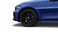 """Koła kompletne zimowe 36112462647 BMW serii 3 G20 17"""" aluminiowe obręcze Double-spoke 796M, czarny mat"""