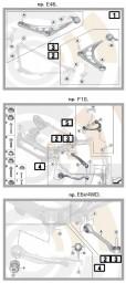 Zestaw naprawczy: wahacz przód/ krzyżulec [1] E53 31122180422