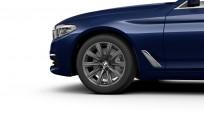 """Koła kompletne zimowe 36110048021 BMW serii 5 G30 18"""" aluminiowe obręcze V-spoke 684 Orbit Grey"""