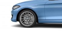 """Koła kompletne zimowe 36112448001 BMW serii 2 F22 18"""" aluminiowe obręcze Radial-spoke 388 Ferric Grey"""