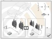 Zestaw: klocki hamulcowe z czujnikiem [1] 34112157570 E46 (PRZÓD) (34116761244 + 34351164371)