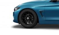 """Koła kompletne zimowe 36112288361 BMW serii 4 F32 18"""" aluminiowe obręcze M Performance Double-spoke 405 M, czarny mat/kute"""