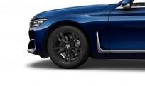 """Koła kompletne zimowe 36112462556 BMW serii 7 G11 19"""" aluminiowe obręcze M Double-spoke 647M, Jet Black"""