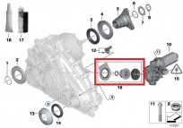 Zestaw naprawczy: serwomotor E53, E70, E71, E72, E83, E90 27102413711