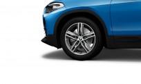 """Koła kompletne zimowe 36110003043 BMW X2 F39 18"""" aluminiowe obręcze M Double-spoke 570 M, Bicolour, Ferric Grey/polerowane"""