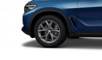 """Koła kompletne zimowe 36112462592 BMW X5 G05 19"""" aluminiowe obręcze V-spoke 735 Ferric Grey"""