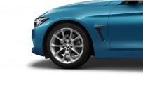 """Koła kompletne zimowe 36112287887 BMW serii 4 F32 18"""" aluminiowe obręcze V-spoke 398"""