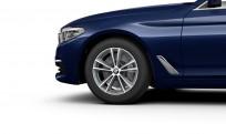 """Koła kompletne zimowe 36110048016 BMW serii 5 G30 17"""" aluminiowe obręcze V-spoke 631 Ferric Grey"""