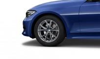 """Koła kompletne zimowe 36112462643 BMW serii 3 G20 17"""" aluminiowe obręcze V-spoke 776, Ferric Grey"""