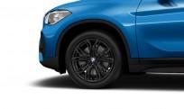 """Koła kompletne zimowe 36110003044 BMW X1 F48 18"""" aluminiowe obręcze Y-spoke 566 czarne"""