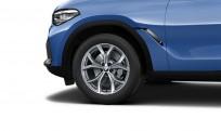 """Koła kompletne zimowe 36112462592 BMW X6 G06 19"""" aluminiowe obręcze V-spoke 735 Ferric Grey"""