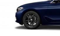 """Koła kompletne zimowe 36112462556 BMW serii 6 G32 19"""" aluminiowe obręcze M Double-spoke 647M, Jet Black"""