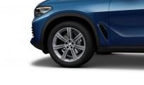 """Koła kompletne zimowe 36112462593 BMW X5 G05 19"""" aluminiowe obręcze Star-spoke 736 Ferric Grey"""