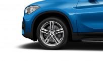 """Koła kompletne zimowe 36110003043 BMW X1 F48 18"""" aluminiowe obręcze M Double-spoke 570 M, Bicolour, Ferric Grey/polerowane"""