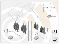 Zestaw: klocki hamulcowe z czujnikiem [2] 34212449304 F1x (TYŁ) (34216775346 + 34356791962)