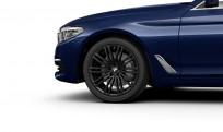 """Koła kompletne zimowe 36110048022 BMW serii 5 G30 19"""" aluminiowe obręcze M Double-spoke 664 M Jet Black"""
