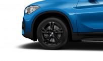 """Koła kompletne zimowe 36112409014 BMW X1 F48 17"""" aluminiowe obręcze Double-spoke 385 czarne"""
