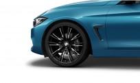"""Koła kompletne zimowe 36112287896 BMW serii 4 F32 20"""" aluminiowe obręcze Double-spoke 624 czarny mat"""